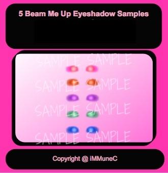 5 Beam Me Up Eyeshadows Instant Makeup