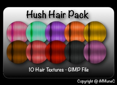 10 Hush Hair Textures With Resell Rights