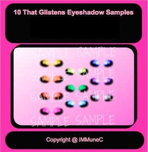 10 That Glistens Eyeshadows Instant Makeup