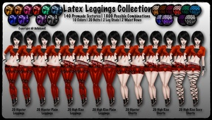 140 Latex Leggings Collection With Resell Rights