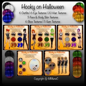 46 Hooky on Halloween Product Textures With Resell Rights