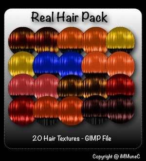 20 Real Hair Textures With Resell Rights
