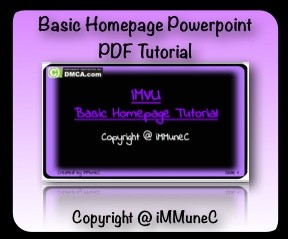IMVU Basic Homepage Tutorial
