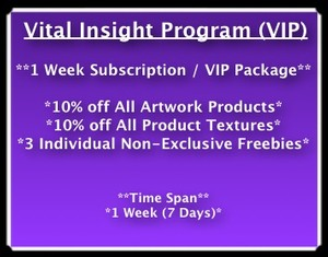 1 Week (7 Days) VIP With VITAL (3 Freebie Textures Included)