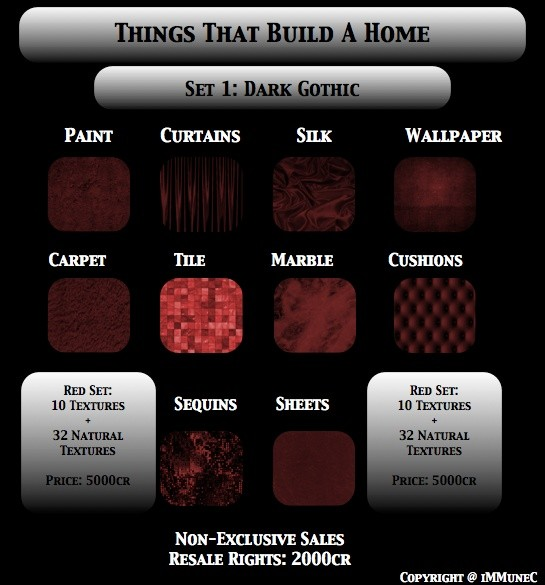 42 Dark Gothic Red Room Textures