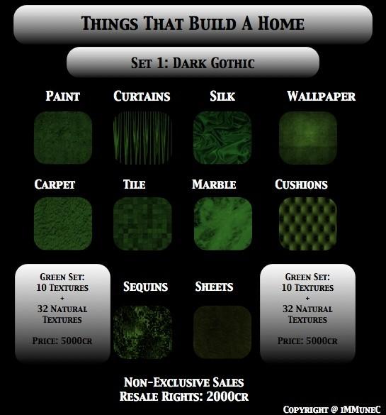42 Dark Gothic Green Room Textures