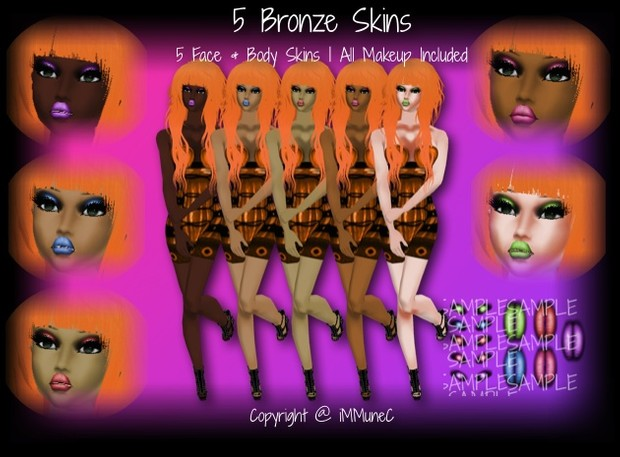 5 Bronze Skin Textures With Resell Rights