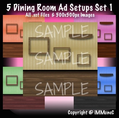 5 Dining Room Advertisement Sets With Resell Rights
