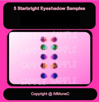 5 Starbright Eyeshadows Instant Makeup With Resell Rights