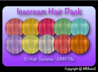 10 Icecream Hair Textures With Resell Rights