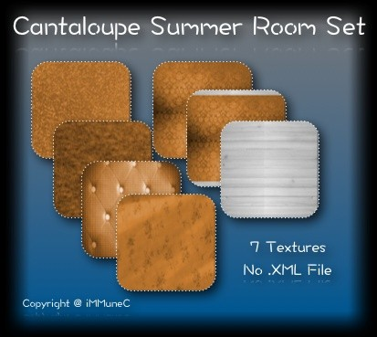 7 Cantaloupe Summer Room Textures With Resell Rights