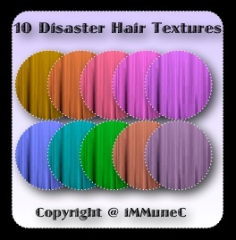 10 Disaster Hair Textures With Resell Rights