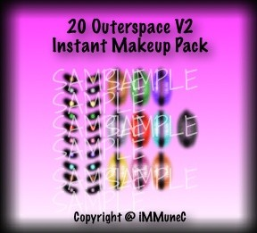 20 Outerspace V2 Instant Makeup With Resell Rights