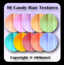 10 Candy Hair Textures With Resell Rights
