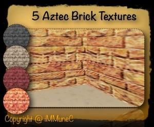 5 Aztec Brick Room Textures