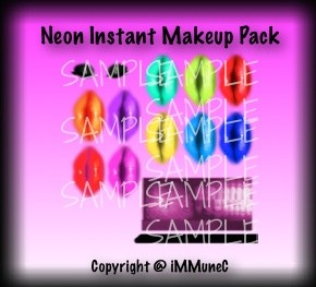 Neon Instant Makeup Pack With Resell Rights