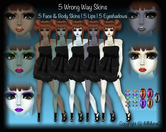 5 Wrong Way Skin Textures