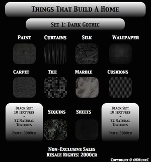 42 Dark Gothic Black Room Textures With Resell Rights