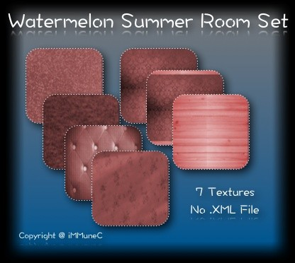 7 Watermelon Summer Room Textures