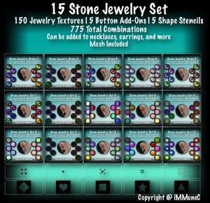 15 Stone Jewelry Set