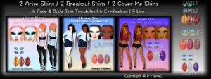 6 Arise / Breakout / Cover Me Skin Textures