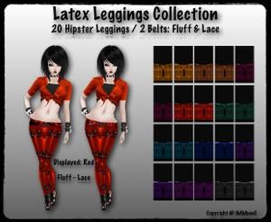 20 Hipster Latex Leggings