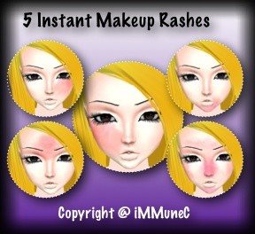 5 Rashes Instant Makeup