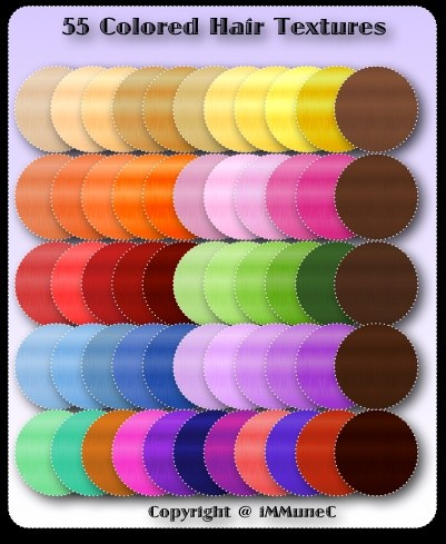 55 Colored Hair Textures