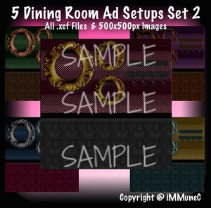 5 Dining Room Advertisement Sets 2 With Resell Rights