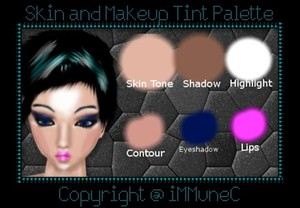 Skin and Makeup Tint Palette created by iMMuneC @ IMVU