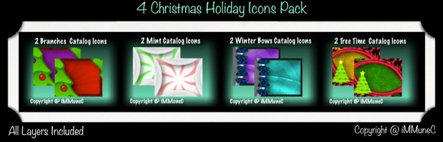 8 Christmas Holiday Catalog Icons With Resell Rights