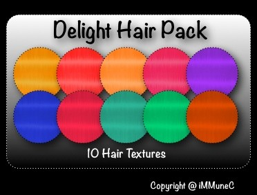 10 Delight Hair Textures With Resell Rights