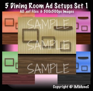 5 Dining Room Advertisement Sets