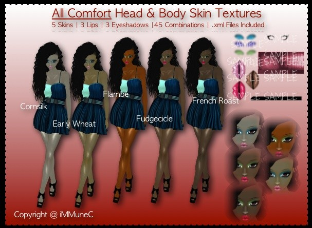 5 All Comfort Skin Textures