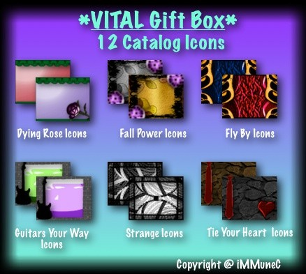 12 Catalog Icons Gift Box With Resell Rights