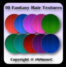 10 Fantasy Hair Textures With Resell Rights