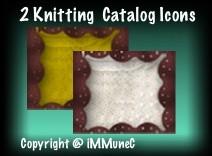 2 Knitting Catalog Icons