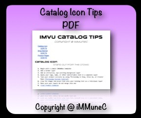 IMVU Catalog Icon Tips
