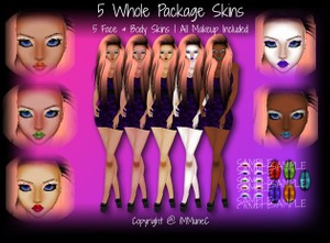 5 Whole Package Skin Textures