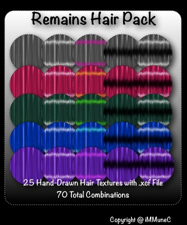 25 Remains Hair Textures With Resell Rights