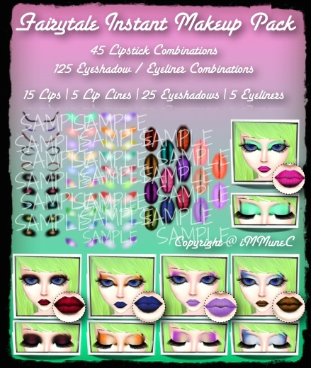 50 Piece Fairytale Instant Makeup Pack With Resell Rights