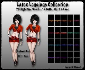 20 High Rise Latex Shorts