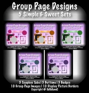 35 Piece Full Simple & Sweet Group Page Design With Resell Rights