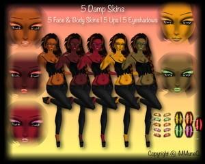 5 Damp Skin Textures