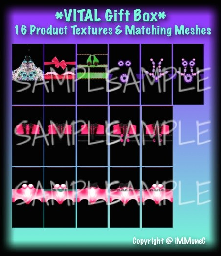 16 Product Textures Gift Box With Resell Rights