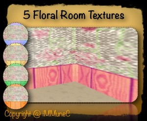 5 Floral Room Textures