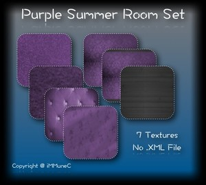 7 Purple Summer Room Textures With Resell Rights