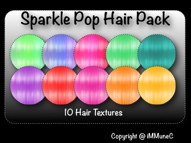 10 Sparkle Pop Hair Textures With Resell Rights