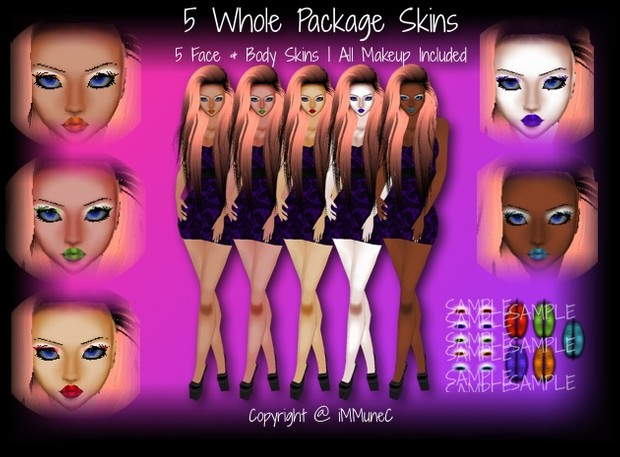 5 Whole Package Skin Textures With Resell Rights