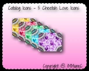 5 Cheetah Love Catalog Icons